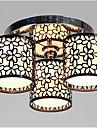 Lightinthebox 3-luz Montagem do Fluxo Luz Ambiente Acabamentos Pintados Metal Tecido Estilo Mini 110-120V / 220-240V Lampada Nao Incluida / E26 / E27
