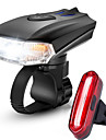 LED Luces para bicicleta Juego de luces recargables para bicicleta Luz Frontal para Bicicleta Luz Trasera para Bicicleta Ciclismo Anti vaho Impermeable Portatil Bateria li-ion recargable 1000 lm