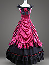 Gothic Victorian Medieval 18th Century Costume Women\'s Dress Party Costume Masquerade Red Vintage Cosplay Party Prom Floor Length Ball Gown Plus Size Customized