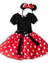 Prinsesse Vintage Kostume Jente Barne Kjoler Party-kostyme Hodeplagg Roed / Rosa Vintage Cosplay Ermeloes T-skjorte