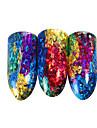 1 pcs 3D наклейки на ногти Галактика маникюр Маникюр педикюр Градиент / Лучшее качество модный / Мода Повседневные