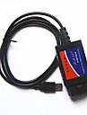 γραμμές του οργάνου διάγνωσης auto σφάλμα ELM327 OBD2 την οδήγηση του καλωδίου USB του υπολογιστή