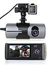 r300 480p / 720p HD Rejestrator samochodowy 140 stopni Szeroki kąt 2.7 in Dash Cam z GPS / Night Vision / Czujnik przyspieszenia Rejestrator samochodowy / Wykrywanie ruchu / Nagrywanie w pętli / WDR