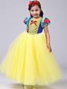 Prinsesse Kjoler Cosplay Kostumer Barn Jente Tegneserie Halloween Jul Halloween Barnas Dag Festival / hoeytid Gul Karneval Kostumer Prinsesse