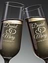 Glass / Ίνα Μπαμπού / Γυαλί Το ψήσιμο φλάουτα Κουτί Δώρου κύπελλο / Γάμος Όλες οι εποχές