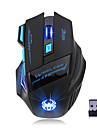 ZELOTES S30 Ασύρματο 2.4G Gaming Mouse RGB φως 3200 dpi 4 Ρυθμιζόμενα επίπεδα DPI 7 pcs Κλειδιά