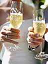 üveg / Bmbuszrost / Üveg Pirítás fuvolák Ajándékdoboz csésze / Esküvő Minden évszak