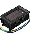 dc dual display digital stroem og spenningsmaalerhode tre linjer roed og blaa dc 4,5-30v 0-100a