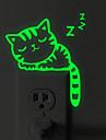 Lichtknop Stickers - Lichtgevende Muurstickers Dieren Woonkamer / Slaapkamer / Badkamer