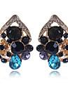 Žene Sitne naušnice Imitacija dijamanta Naušnice Cvijet Slatka Style Elegantno Jewelry Duga Za Vjenčanje Party 1 par
