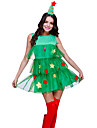Dress Christmas Dress Santa Clothes Adults\' Women\'s Dresses Christmas Christmas New Year Festival / Holiday Tulle Polyster Green Carnival Costumes Christmas