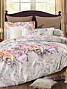 Duvet Cover Sets Floral 100% Cotton Embossed 4 PieceBedding Sets