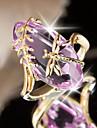 女性用 ラベンダー クラシック オーバル ステートメントリング 銅 トンボ 欧風 トレンディー ロマンチック ファッションリング ジュエリー パープル / グリーン 用途 パーティー デート 6 / 7 / 8 / 9 / 10