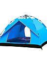 TANXIANZHE® 4 شخص أوتوماتيكي الخيمة في الهواء الطلق ضد الهواء مكتشف الأمطار التنفس إمكانية طبقة واحدة أوتوماتيكي خيمة التخييم 2000-3000 mm إلى شاطئ Camping / Hiking / Caving السفر (البولي يورثين) PU