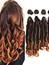 Laflare Синтетические экстензии Волнистый Искусственные волосы Средняя длина Наращивание волос Уток плетение волос 4 предмета Косплей Регулируется Лучшее качество Жен. Рождество Halloween