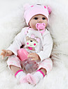 NPKCOLLECTION NPK DOLL Reborn Doll Girl Doll Baby Girl 22 inch Silicone Vinyl - Newborn lifelike Cute Hand Made Child Safe Non Toxic Kid\'s Unisex Toy Gift / Parent-Child Interaction / Lovely