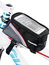 ROSWHEEL Sac de telephone portable / Sac de cadre de velo 5.5 pouce Ecran tactile Cyclisme pour iPhone 8 Plus / 7 Plus / 6S Plus / 6 Plus / iPhone X / iPhone XR Rouge / Zip etanche