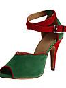 בגדי ריקוד נשים נעליים לטיניות סינטטיים סנדלים / עקבים סלים גבוהה עקב מותאם אישית נעלי ריקוד שחור / אפור / ירוק