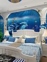 ταπετσαρία / Τοιχογραφία Καμβάς Κάλυψης τοίχων - κόλλα που απαιτείται Φλοράλ / Γεωμετρικό / Art Deco