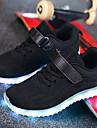 Κοριτσίστικα Παπούτσια Πλεκτό Άνοιξη Φωτιζόμενα παπούτσια Αθλητικά Παπούτσια Κορδόνια / Ταινία Δεσίματος / LED για Γκρίζο / Μπλε / Ροζ