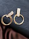 Žene Vedro mali dijamant Geometrijski Okrugle naušnice Naušnice Moda Jewelry Obala Za Dnevno 1 par