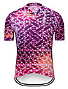 TELEYI Men\'s Short Sleeve Cycling Jersey - Rose Red Bike Jersey Top Quick Dry Sports Terylene Mountain Bike MTB Road Bike Cycling Clothing Apparel / Micro-elastic