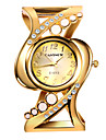 Women\'s Dress Watch Bracelet Watch Gold Watch Quartz Stainless Steel Silver / Gold Casual Watch Marble Analog Bangle Colorful - Blue Pink Golden One Year Battery Life