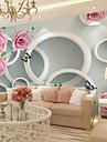 ταπετσαρία / Τοιχογραφία Καμβάς Κάλυψης τοίχων - κόλλα που απαιτείται Ζωγραφιά / Φλοράλ / Art Deco