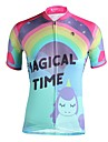 ILPALADINO Dames Korte mouw Wielrenshirt - Roze Fietsen Shirt UV-bestendig Sport 100% Polyester Kleding