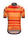 Heren Korte mouw Wielrenshirt - Geel Gestreept Fietsen Shirt Kleding Bovenlichaam Sport Teryleen Kleding / Hoge Elasticiteit