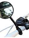 Espejo retrovisor Espejo retrovisor para manillar de bicicleta flexible ajustable Resistente a los golpes Angulo del reflector de vision trasera de amplio alcance Gran angulo de vision trasera