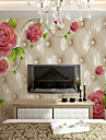 ταπετσαρία / Τοιχογραφία / Παντόφλες Καμβάς Κάλυψης τοίχων - κόλλα που απαιτείται Άνθινο / Βοτανικό / Art Deco / 3D