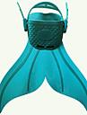 Svømmefinner Havfrue Anti-skrid Lange svømmefødder Dykning Vandsport TPR - til Børn Grøn Blå Lys pink