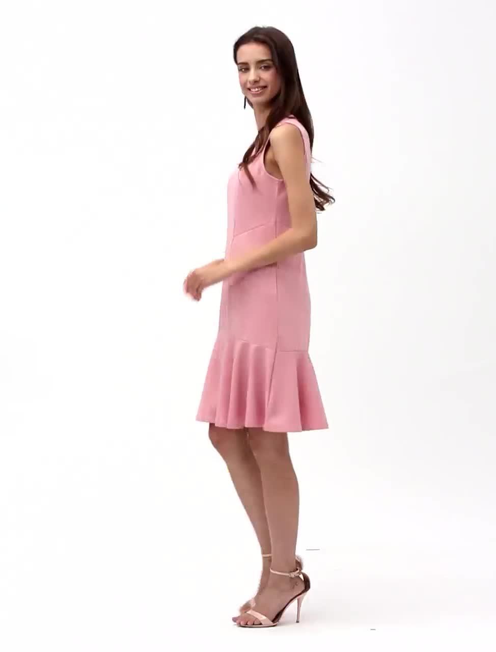 Mujer Noche Chic de Calle Seda Algodón Corte Ancho Recto Vestido Un ...