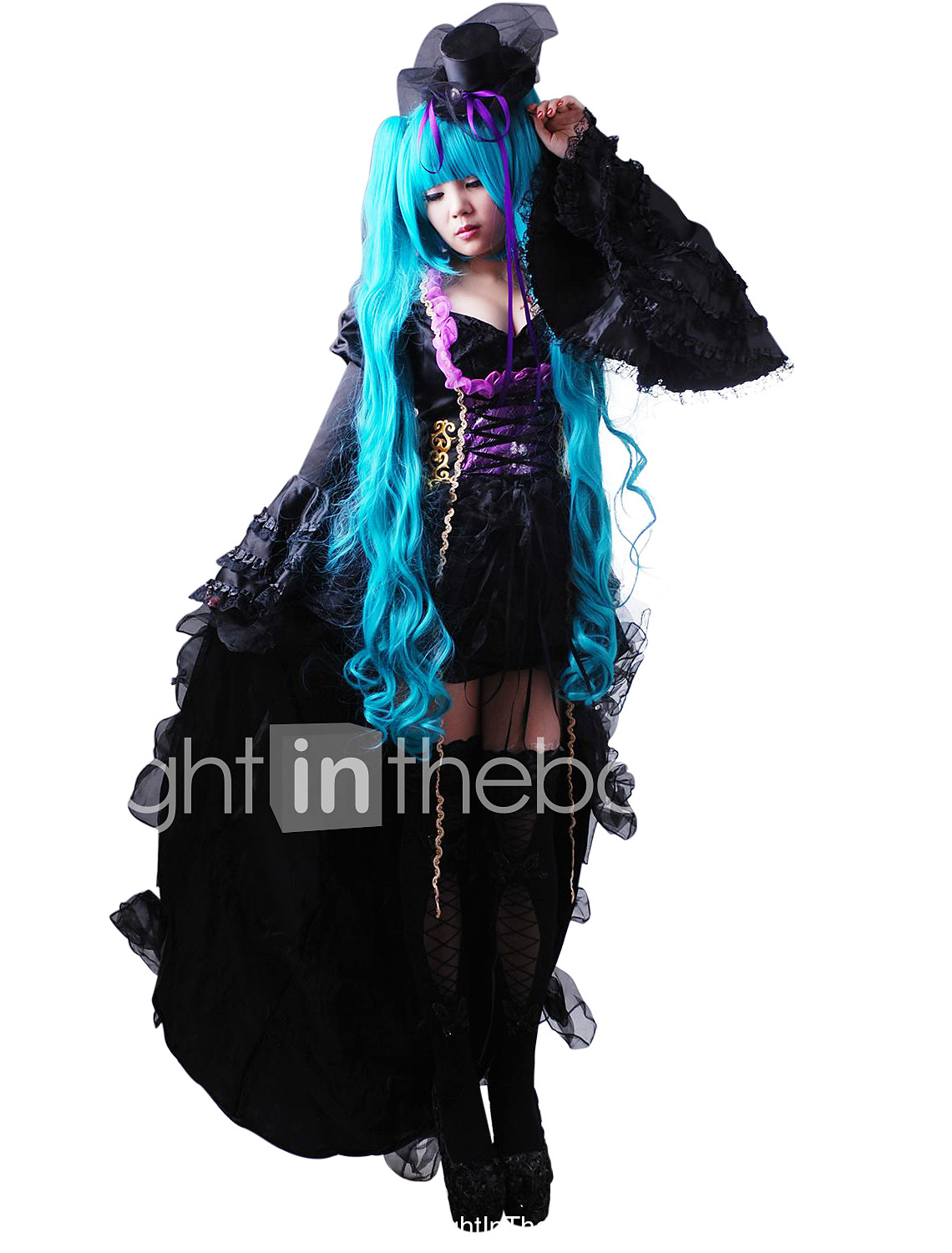Inspired by Vocaloid Hatsune Miku Video Game Cosplay Costumes Dresses Hat/Cap Solid Long Sleeves  sc 1 st  LightInTheBox & Inspired by Vocaloid Hatsune Miku Video Game Cosplay Costumes ...